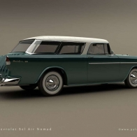 1955 Chevrolet Bel Air Nomad Wallpaper