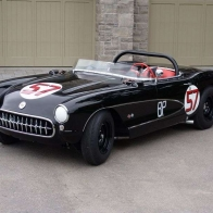 1957 Corvette Road Racer Wallpaper