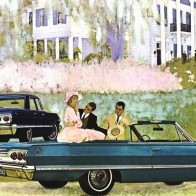 1963 Chevrolet Ad Art Wallpaper