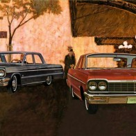 1964 Chevrolet Ad Art Wallpaper