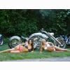 2 Hot Babes Bike Wallpaper