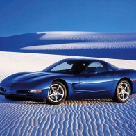 2005 Chevrolet Corvette Blue Wallpaper