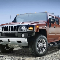 2009 Hummer H2 Sedona Metallic Black Chrome Hd Wallpapers