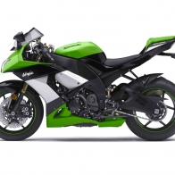 2009 Kawasaki Ninja Zx 10r Green Wallpapers