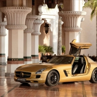 2010 Mercedes Benz Sls Amg Desert Gold 2 Hd Wallpapers