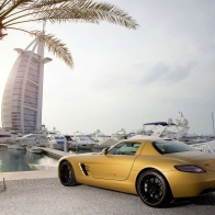 2010 Mercedes Benz Sls Amg Desert Gold 3 Hd Wallpapers