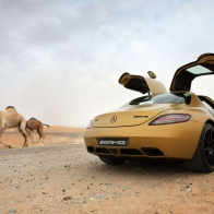 2010 Mercedes Benz Sls Amg Desert Gold 4 Hd Wallpapers
