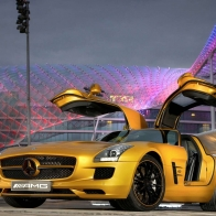 2010 Mercedes Benz Sls Amg Desert Gold 5 Hd Wallpapers