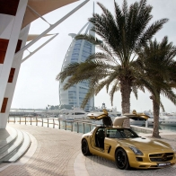 2010 Mercedes Benz Sls Amg Desert Gold Hd Wallpapers