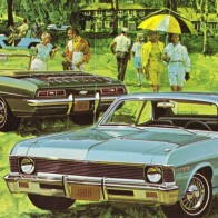 69 Chevy Nova Camaro Ad Art Wallpaper