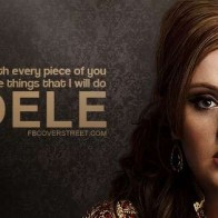 Adele Rolling In The Deep Quote Facebook Cover