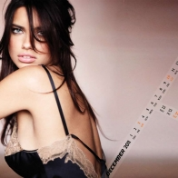Adriana Lima December 2011 Calendar Wallpaper