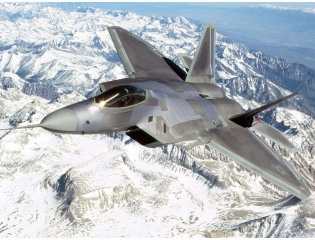 Air F 22 Over Mountains Wallpaper