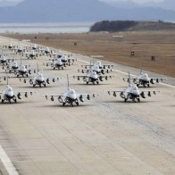 Air Force Fighter Jets Aircraft Groups Runway