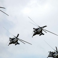 Aircraft Aviation Mi 28 Formation Flying Wallpaper