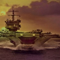 Aircraft Carrier Sunset