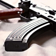 Ak 47 With Bullets Wallpaper