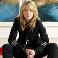 Alexz Johnson In Black Wallpaper