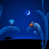 Alien Moon And Chameleon Wallpapers