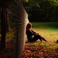 Alone Girl Sit In Garden Hd Wallpapers