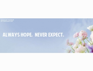 Always Hope Never Expect Cover