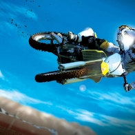 Amazing Motocross Bike Stunt Wallpaper