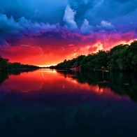 Amazing Red Sky Wallpapers