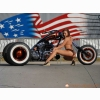 American Chopper And Hot Girl Wallpaper
