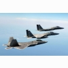 An Fa 22 Raptor Two F 15 Eagles Wallpapers