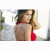 Anahi Gonzales Red Top Wallpapers