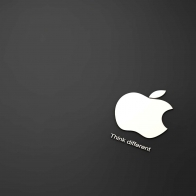 Apple In Black Background Wallpapers