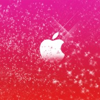 Apple Logo In Pink Glitters Wallpapers