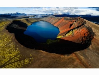 Arctic Volcanic Lake Wallpapers