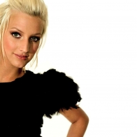 Ashlee Simpson Black Dress Wallpaper Wallpapers