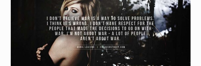 Avril Lavigne War Facebook Cover