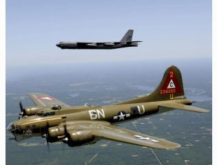 B 17and B 52 Bombers Wallpaper