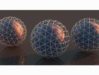 Balls Mesh Surface Metal