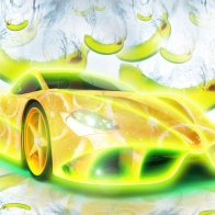 Banana Supercar Wallpaper