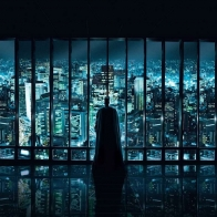 Batman Looking At Gotham City Wallpaper