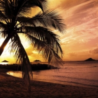 Beach Colors In Twilight Wallpapers