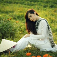 Beautiful Girl Sitting In A Field Wallpapers
