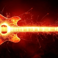 Blazing Guitar Hd Wallpaper 12