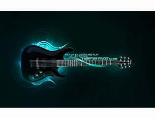 Blazing Guitar Hd Wallpaper 3
