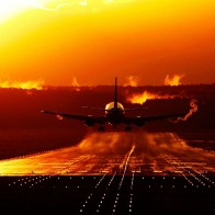 Boeing 737 Sunset