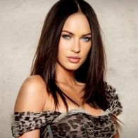 Bold Blue Eyed Megan Fox Wallpaper
