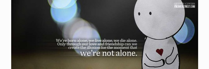 Born Alone Facebook Cover