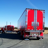 Bright Red Peterbilt