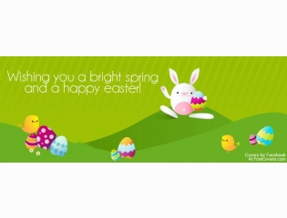 Bright Spring Happy Easter Cover