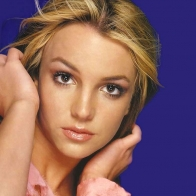 Britney Spears On Blue Background Wallpaper
