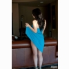 Bryci Bliss In Blue Dress Wallpaper 1